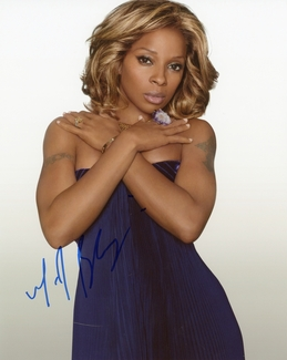 Mary J. Blige Signed 8x10 Photo