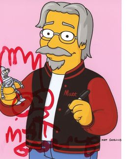Matt Groening Signed 8x10 Photo - Video Proof