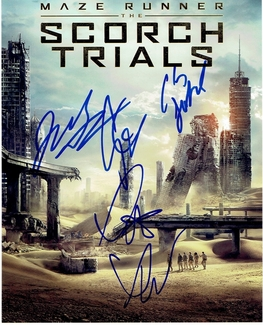 Maze Runner: The Scorch Trials Signed 8x10 Photo - Video Proof