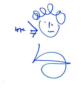 Malcolm Gladwell Signed 8.5x11 Sketch