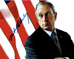 Michael Bloomberg Signed 8x10 Photo