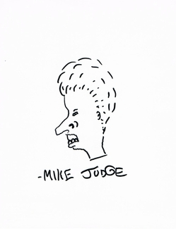 Mike Judge Signed 8x10 Sketch - Video Proof