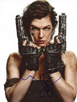 Milla Jovovich Signed 8x10 Photo - Video Proof