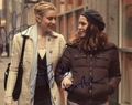 Greta Gerwig & Lola Kirke Signed 8x10 Photo