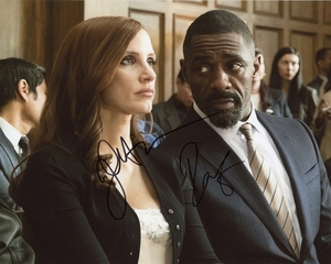 Jessica Chastain & Idris Elba Signed 8x10 Photo - Video Proof