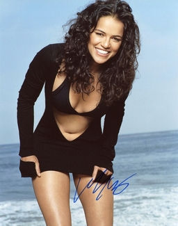 Michelle Rodriguez Signed 8x10 Photo - Video Proof
