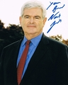 Newt Gingrich Signed 8x10 Photo