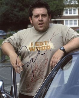 Nick Frost Signed 8x10 Photo