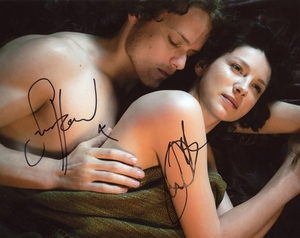 Caitriona Balfe & Sam Heughan Signed 8x10 Photo