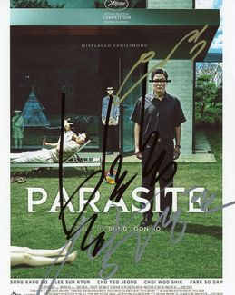 Parasite Signed 8x10 Photo - Video Proof