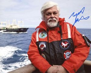 Capt. Paul Watson Signed 8x10 Photo - Video Proof