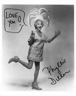 Phyllis Diller Signed 8x10 Photo