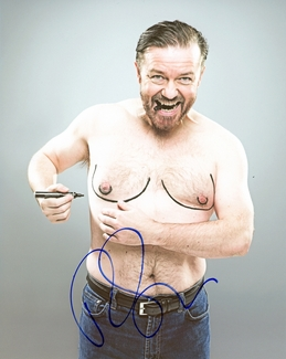 Ricky Gervais Signed 8x10 Photo - Video Proof