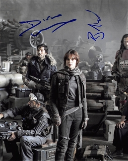 Diego Luna & Riz Ahmed Signed 8x10 Photo
