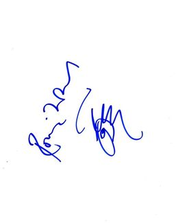 Ronnie Wood Signed 8.5x11 Sketch