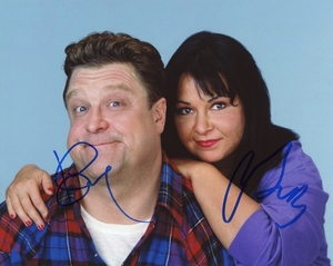 Roseanne Barr & John Goodman Signed 8x10 Photo - Video Proof