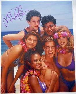 Tiffani Thiessen & Mark-Paul Gosselaar Signed 11x14 Photo