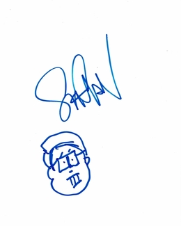 Seth Green Signed 8.5x11 Sketch