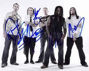 Sevendust Signed 8x10 Photo