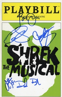 Shrek the Musical Signed Playbill