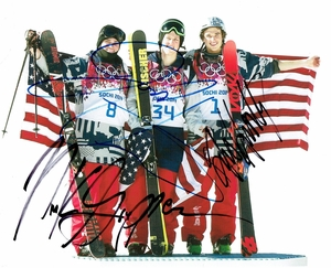 U.S. Men's Slopestyle Signed 8x10 Photo - Video Proof