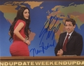 Nasim Pedrad & Seth Meyers Signed 8x10 Photo
