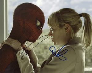 Andrew Garfield & Emma Stone Signed 8x10 Photo - Video Proof