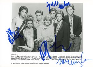 St. Elmo's Fire Signed 5x7 Photo