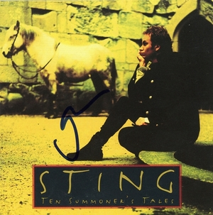 Sting Signed CD Booklet
