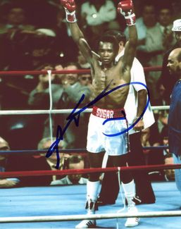 Sugar Ray Leonard Signed 8x10 Photo - Video Proof