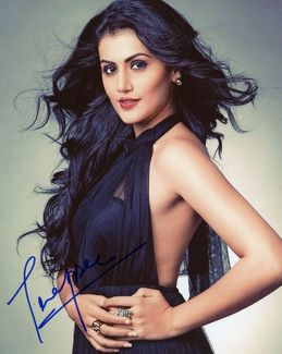 Taapsee Pannu Signed 8x10 Photo - Video Proof