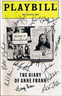 The Diary of Anne Frank Signed Playbill