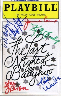The Last Night of Ballyhoo Signed Playbill