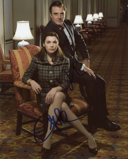 Julianna Margulies & Chris Noth Signed 8x10 Photo - Video Proof