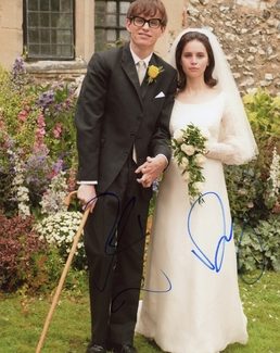 Eddie Redmayne & Felicity Jones Signed 8x10 Photo