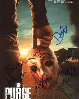 The Purge Signed 8x10 Photo - Video Proof