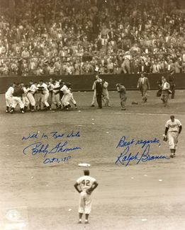 Bobby Thomson & Ralph Branca Signed 8x10 Photo