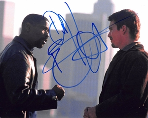 Denzel Washington & Ethan Hawke Signed 8x10 Photo - Video Proof