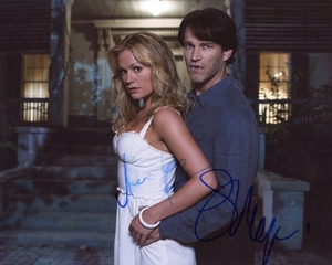 Anna Paquin & Stephen Moyer Signed 8x10 Photo