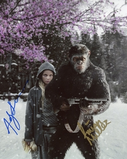 Amiah Miller & Andy Serkis Signed 8x10 Photo