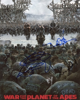 War for the Planet of the Apes Signed 8x10 Photo