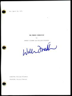 William Friedkin Signed Script