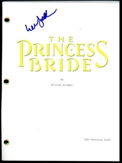 William Goldman Signed Script