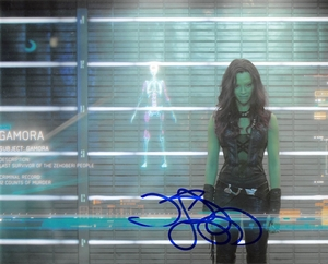 Zoe Saldana Signed 8x10 Photo - Video Proof