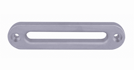 19-52001 Aluminum Hawse Fairlead, (for use with Synthetic Rope)