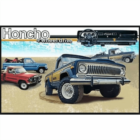 7980HCHOS-BLUE Decal Set  1979-1980 Jeep J10 Honcho Sportside Truck Blue Stripe Kit (4-color)
