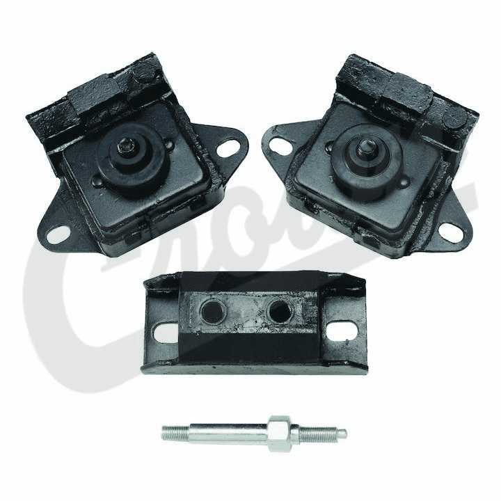 8128488K Engine Mount Kit, for Grand Wagoneer, Cherokee & Jeep J-Series Pick-Up Trucks 1974-1990 with 258, 4.2L Engine