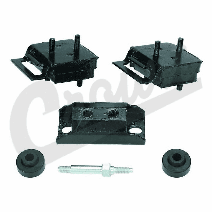3186107K Engine Mount Kit, for Grand Wagoneer, Cherokee & Jeep J-Series Pick-Up Trucks 1976-1991 8 cyl 360, 401