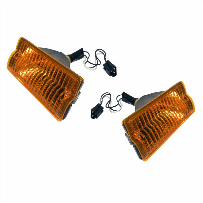 5460106-7 Right and Left Side Front Parking Lamp Set, 1963-1991 Jeep SJ Cherokee, Wagoneer, J-Series