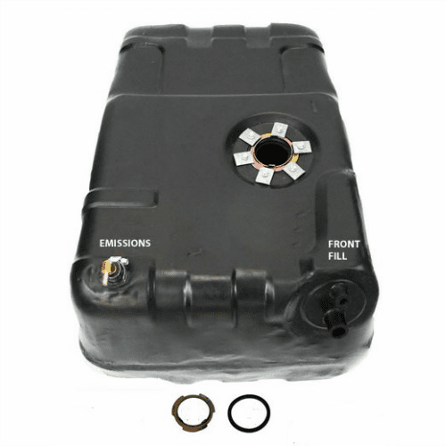 0013 Plastic Gas Tank for 1978-1979 Jeep J10, J20 Jeep Trucks, Filler and Vent Hoses Attach to the Front of Gas Tank